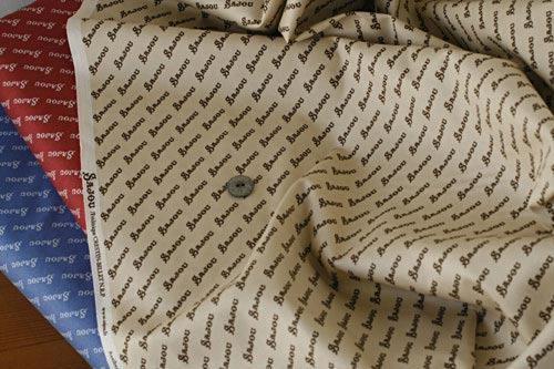 サジュー Sajouのロゴ柄が描かれたコットン生地【Antibes】