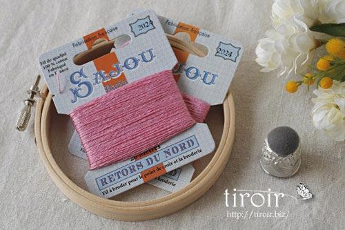 サジュー Sajouの刺繍糸【Retors du Nord】、色番2024