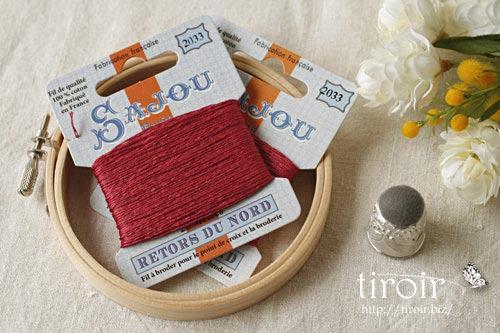 サジュー Sajouの刺繍糸【Retors du Nord】、色番2033