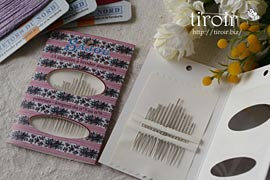 フランス刺繍針 no.1〜no.9 サジュー Sajouの手芸用品
