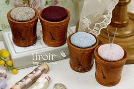 ピンクッション 木製のヴィンテージスタイル|サジュー Sajouの手芸用品