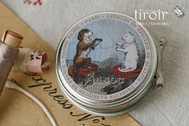 スプリングホック入りティン缶【Guilvinec】 サジュー Sajouの手芸用品