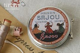 繭玉の縫い糸入りティン缶【Crozon】 サジュー Sajouの手芸用品