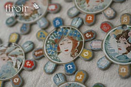 糸巻き【Barfleur】アールヌーボーな女性達 サジュー Sajouの手芸用品