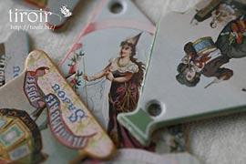 糸巻き【Domfront】糸メーカーのヴィンテージラベル|サジュー Sajouの手芸用品